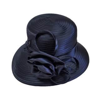 Women's 'All Year Around' Satin Fabric Rose Bow Swan Hat