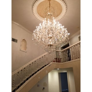 Maria Theresa Collection 60-light Chrome Finish and Clear Crystal Royal Chandelier