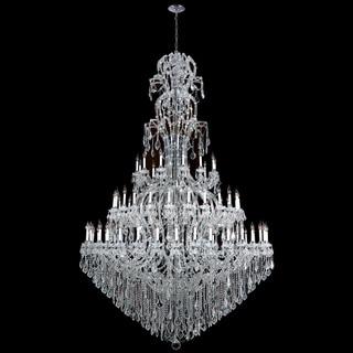 Maria Theresa Collection 72-light Chrome Finish and Clear Crystal Royal Chandelier Three 3 Tier