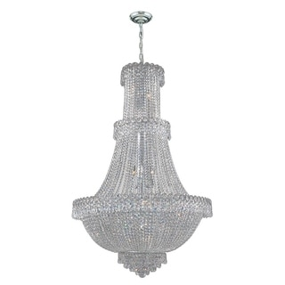 French Empire Collection 17-light Chrome Finish and Clear Crystal Chandelier