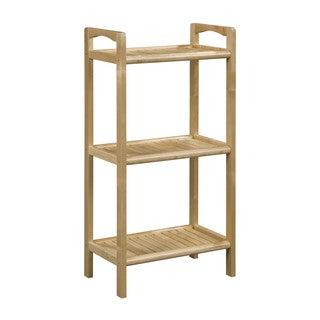 Somette Abingdon Blonde Solid Birch Wood 3 Shelf Tower