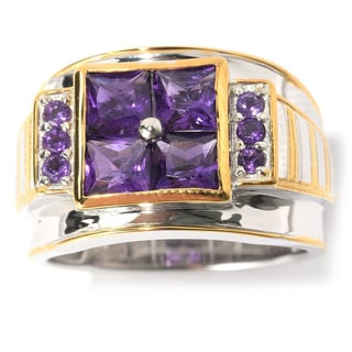 Michael Valitutti Men's Dark African Amethyst Ring