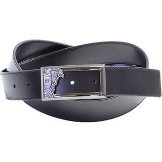 Versace Collection 200 Black Leather Half Medusa Belt