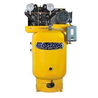 EMAX Industrial Plus 10 HP 1-Phase 120 gal.Vertical Industrial Air Compressor