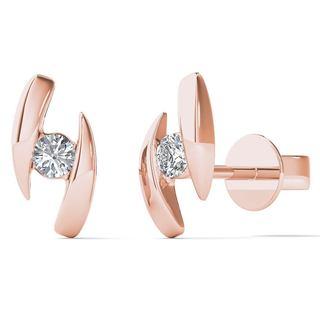 10k Rose Gold Diamond Accent Fashion Stud Earrings (H-I, I1-I2)
