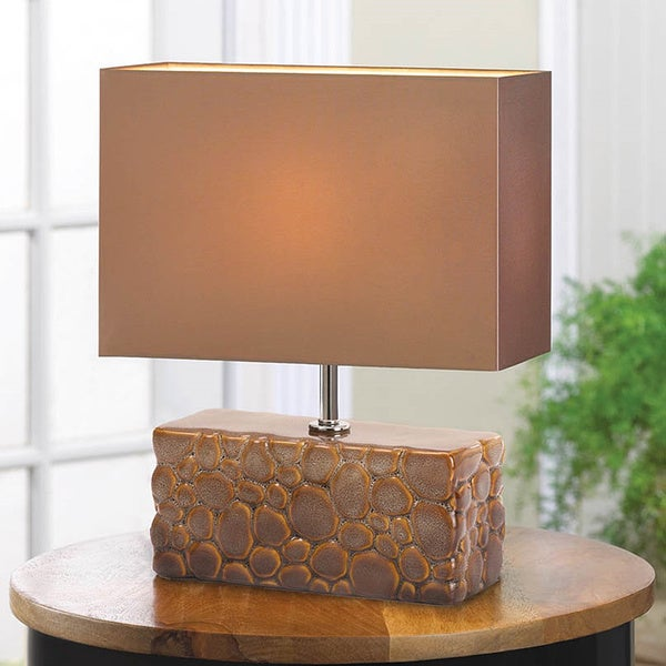 Modern Cultured Stone Table Lamp