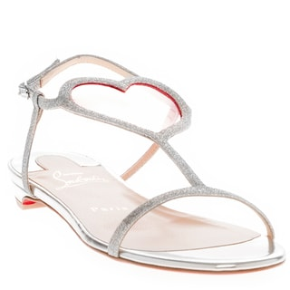 Christian Louboutin Cora Glitter Flat Sandals