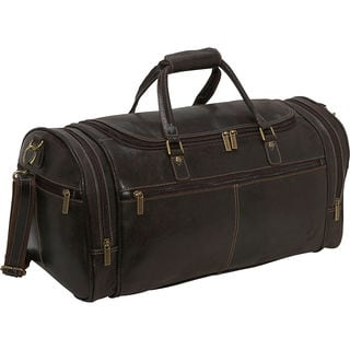 LeDonne Leather Distressed Leather 21-inch Carry On Overnighter Duffel Bag
