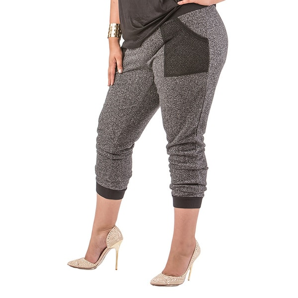 Poetic Justice Plus Size Taryn Soft Relaxed French Terry Jogger Pants