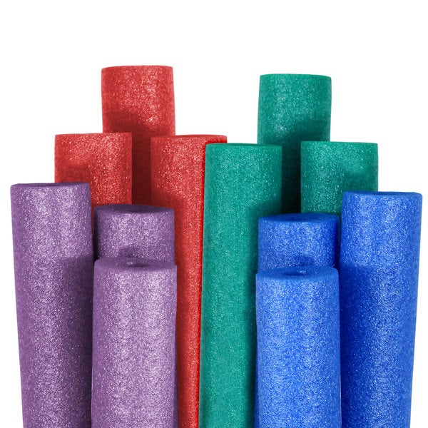 Robelle Big Boss Pool Noodles Blue, Teal, Purple, and Red 12-Pack 18172521
