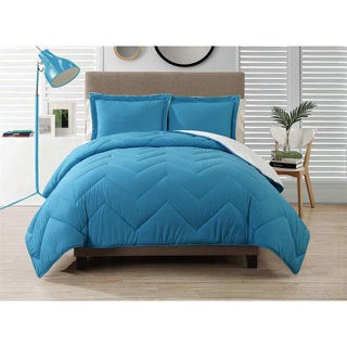 Caribbean Joe Down Alternative Chevron Comforter Set