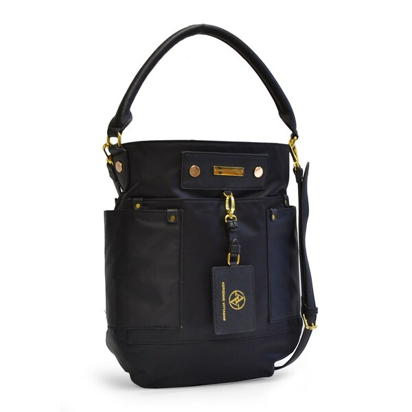 Adrienne Vittadini Travel Light Nylon Satchel Handbag