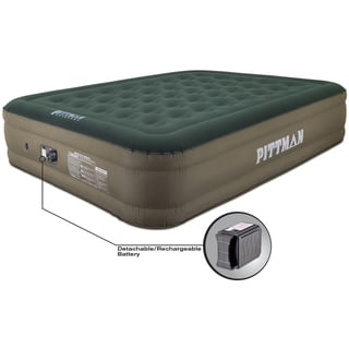 "Pittman 16"" Ultimate Fabric Air Mattress w/Built-in Pump - Green"
