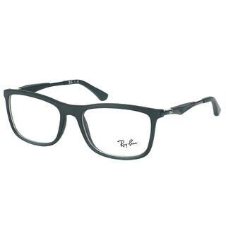 Ray-Ban RX 7029 2077 Matte Black Plastic Square 53mm Eyeglasses