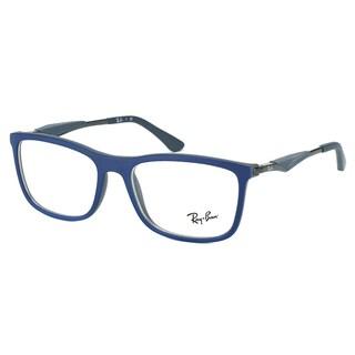 Ray-Ban RX 7029 5260 Matte Blue on Dark Grey Plastic Square 53mm Eyeglasses