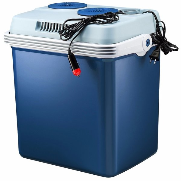Knox 34-Quart Electric Cooler/Warmer with Dual AC and DC Power Cords (Blue)