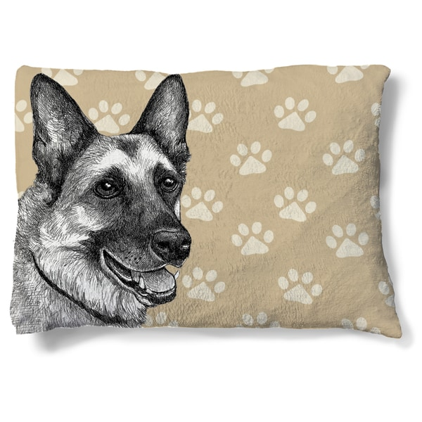 Laural Home German Shepherd Fleece Dog Bed