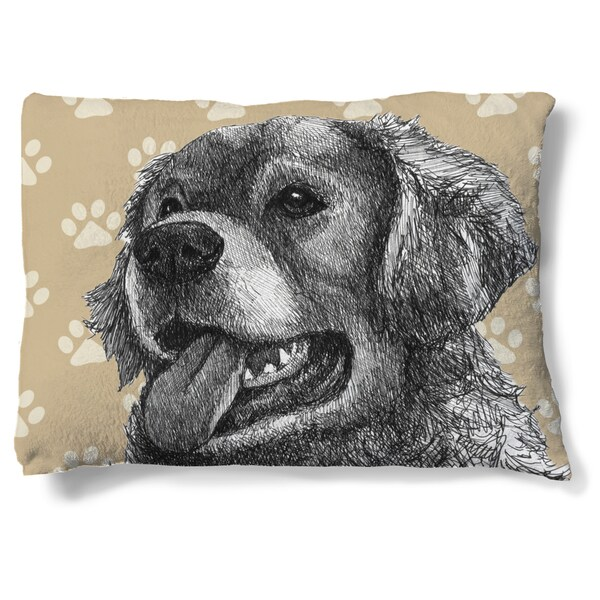 Laural Home Golden Retriever Fleece Dog Bed