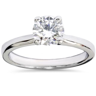 14k White Gold 1ct TDW Lab Grown Diamond Solitaire Engagement Ring (F-G, VS2-SI1)
