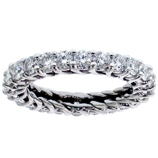 Platinum 2 - 2 1/4ct TDW Diamond Eternity Wedding Band (G-H, SI1-SI2)