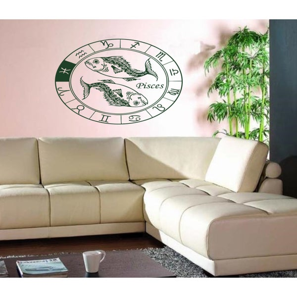 Constellation Pisces zodiac sign astrology Wall Art Sticker Decal Green