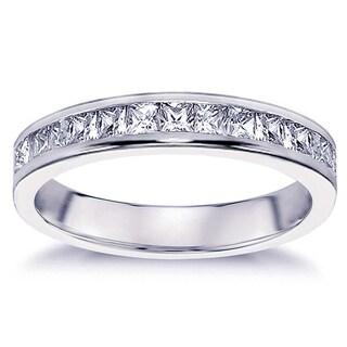 Platinum 3/4ct TDW Diamond Eternity Wedding Band