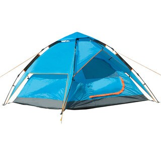 Semoo Water Resistant Lightweight, 2 Door, 3 Person, 3-Season Family Instant Tent with Carry Bag for