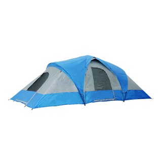 Semoo 9-Person 3-Room Family Tent with Large D-Style Door for Camping/Traveling with Carry Bag
