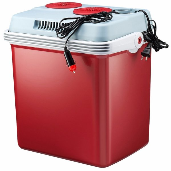 Knox 34-Quart Electric Cooler/Warmer with Dual AC and DC Power Cords (Red)