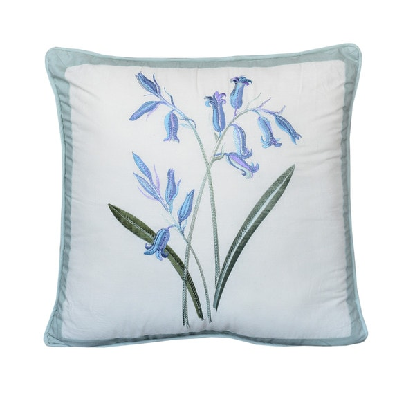 Nostalgia Home Josephine Square Blue Flowers Decorative Pillow