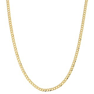 Fremada 10k Yellow Gold 3-mm High Polish Curb Link Chain (16 - 30 inches)