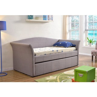 Abbyson Living Casey Grey Fabric Daybed with Trundle