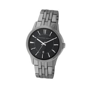 Geoffrey Beene Men's GB8069GU Gunmetal Bracelet Black Dial Watch