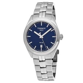 Tissot Women's T101.210.11.041.00 'PR 100' Blue Dial Stainless Steel Swiss Quartz Watch