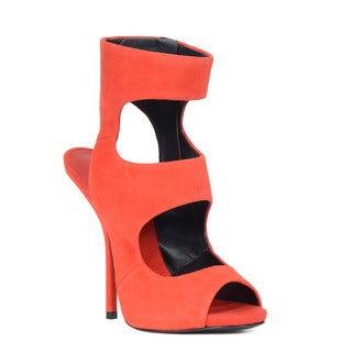 Giuseppe Zanotti Red Cut-out Peep Toe Heel Sandal