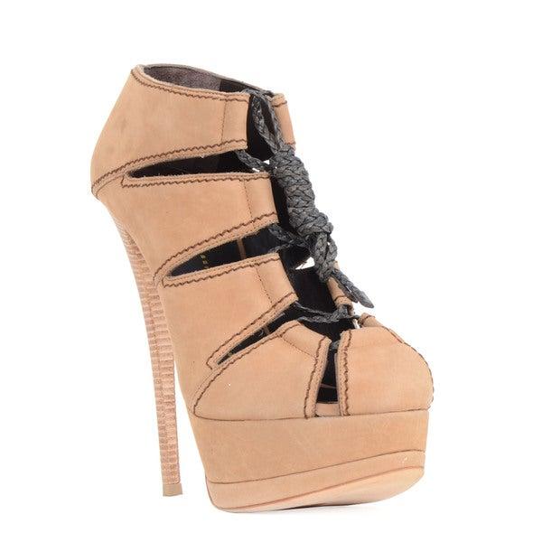 Giuseppe Zanotti Beige Lace-up Heel Sandal