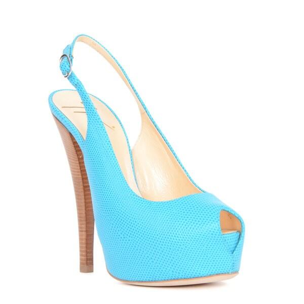 Giuseppe Zanotti Blue Peep Toe Heel Sandal