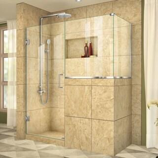 DreamLine Unidoor Plus 59 in. W x 40.375 in. D x 72 in. H Hinged Shower Enclosure