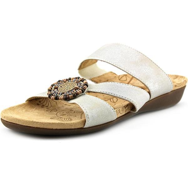 Acorn Women's 'Samoset Slide' Off-White Leather Sandals