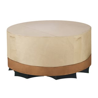 Villacera Beige Tall 60 Inch Round Patio Table & Chair Cover