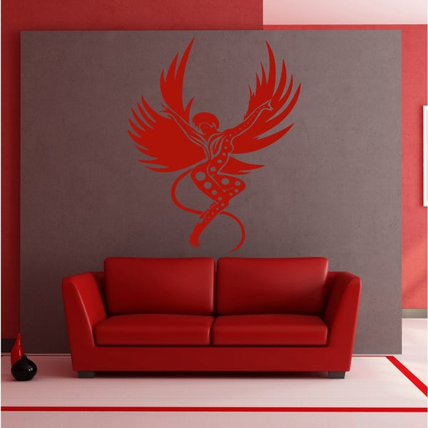 Angel demon wings Wall Art Sticker Decal Red