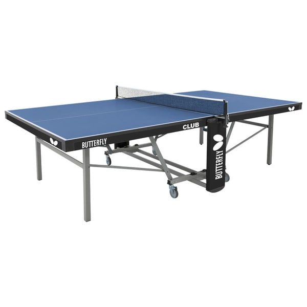 Butterfly Club 25 Table Tennis Ping Pong Table with Net Set - 3 Year Warranty - 1 Inch Top - Blue