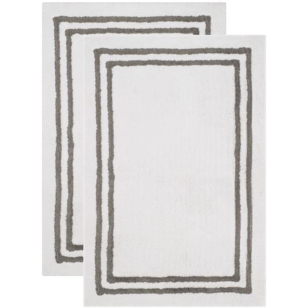 Safavieh Handmade Plush Master Bath Dark Grey Cotton Rug (2' x 3')