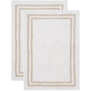 Safavieh Handmade Plush Master Bath Tan Cotton Rug (2' x 3')