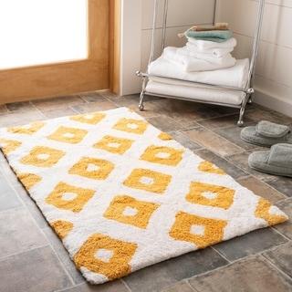 Safavieh Handmade Plush Master Bath Saffron Cotton Rug (1' 9 x 2' 10)