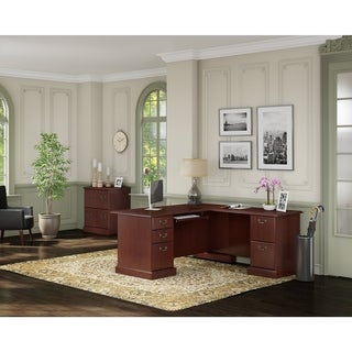 kathy ireland Office by Bush Business Furniture Bennington L-desk, and Lateral File