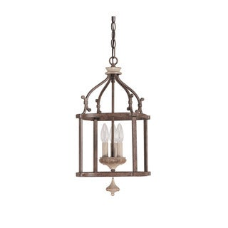 Capital Lighting Chateau Collection 3-light French Oak Foyer Pendant