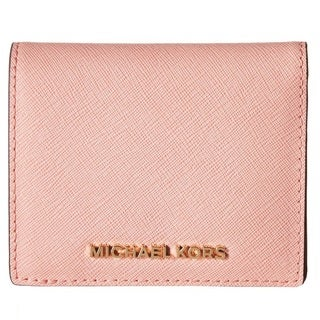 Michael Kors Jet Set Pale Pink Travel Flap Card Holder
