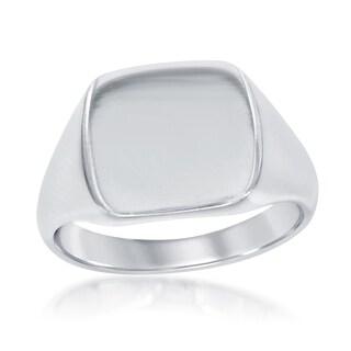 La Preciosa Sterling Silver Blank Square Signet Ring