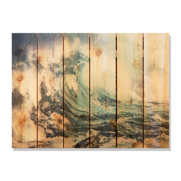 Wild Wave 33x24-inch Indoor/ Outdoor Full Color Cedar Wall Art